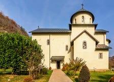 Serbisches orthodoxes Kloster Moraca, Kolasin, Montenegro lizenzfreie stockfotos