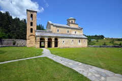 Serbisches orthodoxes Kloster Sopocani stockfoto
