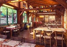Serbisches Restaurant Stockbild