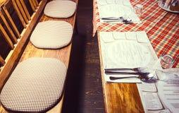 Serbisches Restaurant Stockfotografie