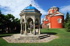 Serbisk ortodox kloster Zica Arkivfoto