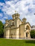 Serbisk ortodox kyrka i Ljubljana, Slovenien Arkivbild
