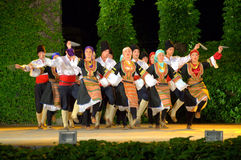 Serbska taniec grupa zdjęcia stock