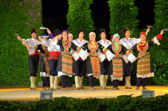 Serbska taniec grupa obrazy royalty free