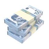 Serbski dinar odizolowywający na białym tle Fotografia Royalty Free