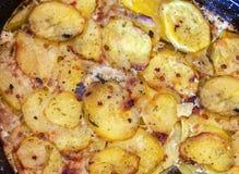 Serbski naczynia mousaka, balkan kuchnia jak tradycyjny asortowany naczynia tło obraz stock