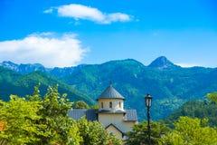 Serbski Ortodoksalny monaster Moraca w Montenegro Zdjęcie Stock