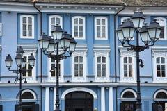 Serbski społeczność dom przy Zrzeszeniowym Squar Zdjęcie Royalty Free