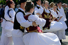 Serbski taniec 1 Zdjęcia Royalty Free