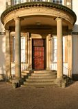 Serby Hall Entrance. Main door at Sewerby Hall, East Yorkshire UK stock photo