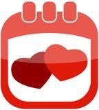 serc ikony valentine Obrazy Royalty Free