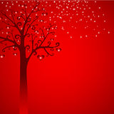 serc ilustraci śniegu drzewo Zdjęcia Royalty Free