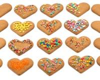 Serc kształtni ciastka dla valentine dnia Zdjęcia Stock