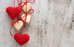 Serc kształtni cukrowi ciastka Zdjęcia Royalty Free