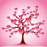 serc liść miłości drzewa valentine Zdjęcia Stock