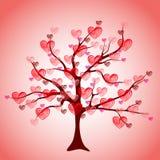 serc liść miłości drzewa valentine Obrazy Stock