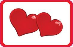 serc pary prostokąta czerwień Ilustracji
