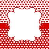 Serc valentines dnia zaproszenia karta ilustracja wektor