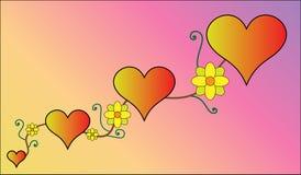 serca światło - stal różowy styl Zdjęcia Royalty Free
