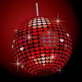 serca balowy lustro Obrazy Stock
