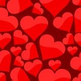serca bezszwowy deseniowy Obraz Royalty Free