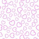 serca bezszwowy deseniowy Fotografia Royalty Free