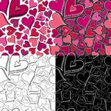 serca bezszwowy deseniowy Zdjęcie Stock