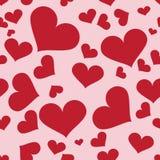 serca bezszwowy deseniowy Zdjęcie Royalty Free