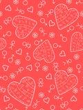 serca bezszwowy różowy Zdjęcie Stock