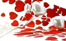 serca biały Fotografia Stock
