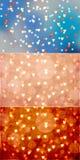 Serca Bokeh na Różnorodnych tło - set 3 Obrazy Stock