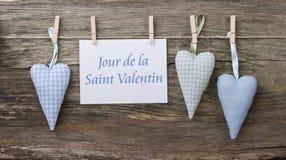 Valentin ` s dnia karta Obrazy Royalty Free