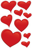 serca czerwoni Fotografia Stock