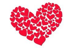 serca czerwoni Zdjęcia Royalty Free