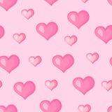 Serca deseniowy różowy bezszwowy Fotografia Royalty Free