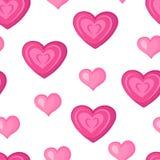 Serca deseniowy różowy bezszwowy Zdjęcie Stock