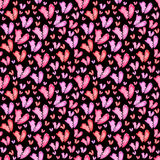 serca deseniują bezszwowego Tileable tło Zdjęcia Royalty Free