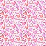 serca deseniują bezszwowego Tileable tło Obraz Stock