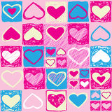 serca deseniują bezszwowego valentine Obraz Royalty Free