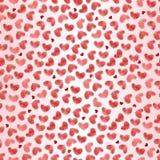 serca deseniują bezszwowego valentine royalty ilustracja