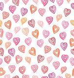 serca deseniują bezszwowego Walentynki ` s dnia tło Obrazy Royalty Free