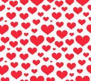 serca deseniują czerwień bezszwową ilustracji