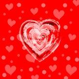 serca deseniują czerwień bezszwową Obrazy Stock