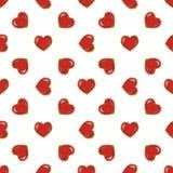 serca deseniują czerwień bezszwową Fotografia Royalty Free