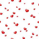 serca deseniują czerwień bezszwową również zwrócić corel ilustracji wektora Obrazy Stock