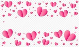 Serca deseniują tło dla walentynka dnia, Save Daktylowego ślubnego projekta szablon, kartka z pozdrowieniami lub zaproszenia Wekt Fotografia Royalty Free