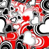 serca deseniują bezszwowego Obrazy Stock
