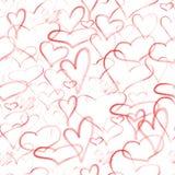 serca deseniują bezszwowego Zdjęcie Royalty Free