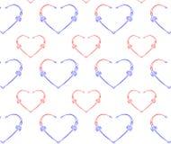 serca deseniują bezszwowego Fotografia Stock