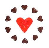 serca deseniują cukierki Zdjęcie Royalty Free